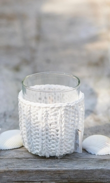 Shelter Summer Knit Votive White