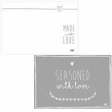 Tablemat Block 50 sheets Seasoned with love