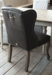 Keith Lowback Wing Chair Linen Antrachite