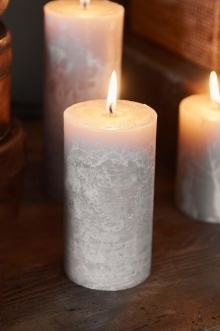 Rustic Candle desert sand 7 x 13