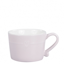 Mug Small Rose with line heart white