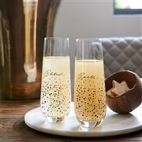 Sparkle Champagne Glasses 2 pcs